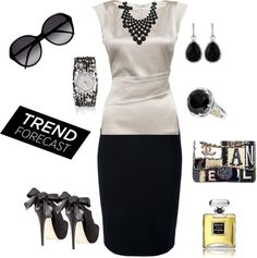 """Valentino Pencil Skirt"" by staciegh ❤ liked on Polyvore"