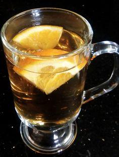 Nettle tea with slices of fresh orange!