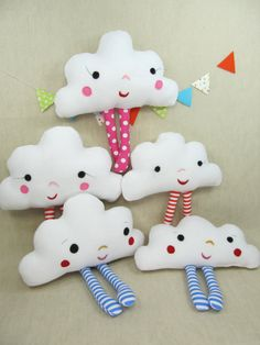 Plush Pillow Toy Mr Cloud van violastudio op Etsy, $35.00