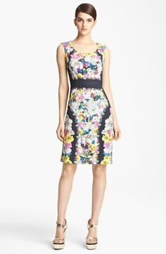 I am in love with this dress! Erdem 'St. Germain' Silk Crepe Sheath Dress available at #Nordstrom