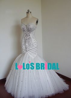 bling wedding dresses | Reviews: LOC022 sexy bling beading mermaid wedding dresses [LOC022 ...