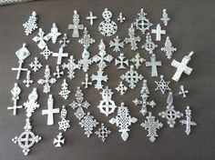 A collection of top of the shelf Ethiopian coptic crosses, antique, solid silver 835/1000. All on sale in my shop on: www.etsy.com://shop/shebatreasures650