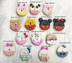 Cute macaron Character needleminder, needle minder, needle nanny, magnetic needlework accessory for Rainbow Donut, Princess Cookies, Handmade Baby, Handmade Gifts, Diy Crafts For Girls, Cute Clay, Clay Ornaments, Miniature Crafts, Mini Things