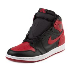 newest 7876d 2e1c7 Nike Mens Air Jordan 1 Retro 2016 Bred Banned Black Red New Deadstock  Authentic