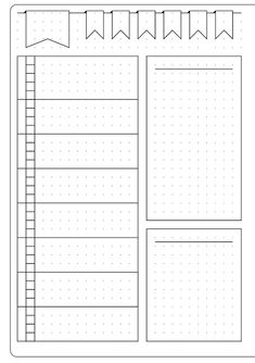 This could be for meal planning or meal planning in a bullet journal--Simple Weekly Layout & Template - Kate Louise Bullet Journal Inspo, Minimalist Bullet Journal, Bullet Journal Ideas Pages, Bullet Journal Spread, Bullet Journals, Beginner Bullet Journal, Bullet Journal Teacher, Bullet Journal Layout Templates, Bullet Journal Weekly Layout