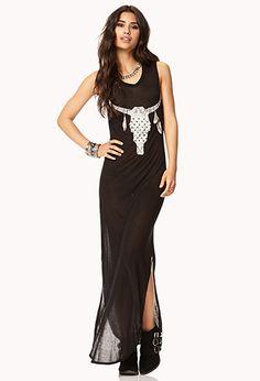 Longhorn Maxi Dress | FOREVER21 - 2000128646
