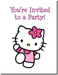 free hello kitty invitation