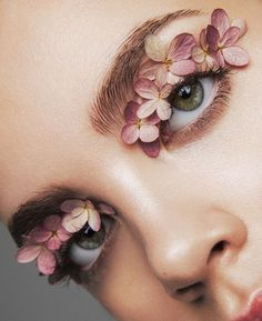 Floral beauty editorial.