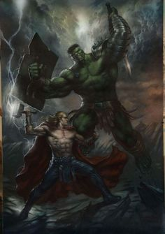 #Hulk #Fan #Art. (Thor vs Planet Hulk) By: LucioParillo. ÅWESOMENESS!!!™ ÅÅÅ+
