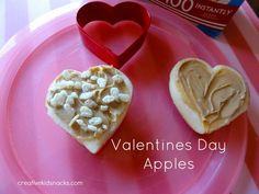 Sweet, healthy afternoon snack for Valentines Day