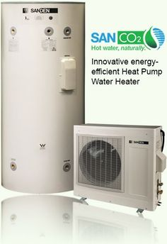 Energy Efficient Home Upgrades in Los Angeles For $0 Down -- Home Improvement Hub -- Via - SanCO2 logo and photo, innovative energy-efficient Heat Pump Water Heater
