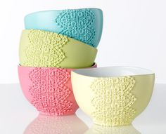 Brighten up Mother's Day with Martha Stewart spring lace bowls. (via plaidonline.com)