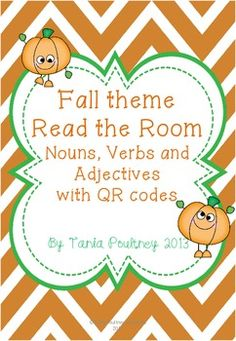 Great Fall Freebie - Adjectives & QR codes
