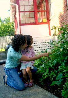 Sarah and Her Daughter Charlotte show off their first veggie garden, planted in Staunton, Virginia!