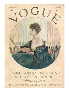 "Vogue Cover - February 21, 1907 ""Spring Announcement Special Number"""