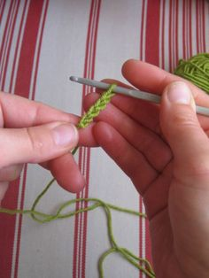 Fairly basic step-by-step on how to crochet. I already learned, but this is handy to have around...just in case I get a little rusty.  :)