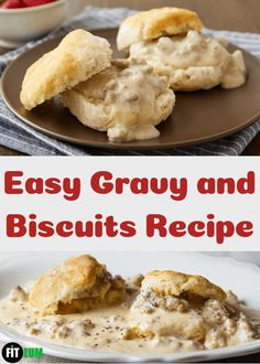 Easy gravy and biscuits recipe contain flaky biscuits, creamy gravy, and zesty sausages. Why you will not love this delicious keto recipe. Best Biscuits And Gravy, Biscuit N Gravy Recipe, Biscuits And Gravy Casserole, Flaky Biscuits, Lunch Recipes, Diet Recipes, Breakfast Recipes, Healthy Recipes, Healthy Food