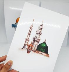 Set of 3 Islamic Landmark Prints (The Holy Kabah – Masjid an Nabawiy – The Dome of The Rock) Available with Frames! Set of 3 Islamic Landmark Prints The Holy Kabah Masjid an Arabic Calligraphy Art, Arabic Art, Calligraphy Alphabet, Islamic Images, Islamic Pictures, Muslim Pictures, Islamic Art Pattern, Pattern Art, Islamic Paintings