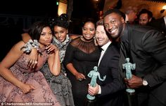 Fab: Taraji spoke about equality as she picked up an award on behalf of the cast of Hidden...