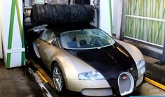 Driver Takes His Bugatti Veyron to a Gas Station Car Wash