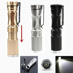 MECO XPE-Q5 600LM Zoomable LED Flashlight+Battery+Charger