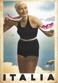 Vintage Italian Posters ~ #illustrator #Italian #vintage #posters ~ RAM (Ruggero Alfredo MICHAELLES)    Italia, 1930 c.