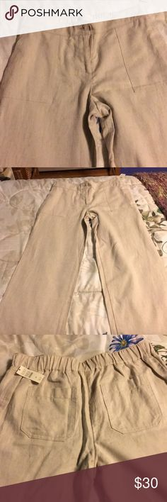 Linen pants Get ready for Spring with these Talbots linen pants! NWT Talbots Pants Straight Leg