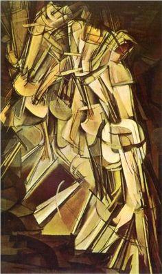 Nude Descending a Staircase, No.2 - Marcel Duchamp