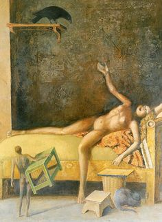 Balthus - Large Composition with Raven (1983-1986)