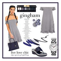 """""""gingham blues"""" by saturn43210 on Polyvore featuring Michael Kors, Cole Haan, Timex and Yves Saint Laurent"""