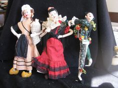 GROUP OF THREE VERY NICE KLUMPE AND KLUMPE-TYPE DOLLS