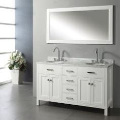 @Overstock - The Caroline bathroom vanity set features maximum storage with four doors and four drawers.  The vanity is constructed from solid oak wood and comes complete with the countertop and mirror.http://www.overstock.com/Home-Garden/Ashford-60-inch-Double-sink-Bathroom-Vanity-Set/6661170/product.html?CID=214117 $1,788.99