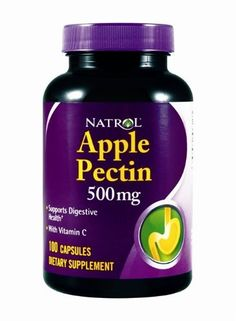 Natrol Apple Pectin, 500 mg, 100 caps by Natrol. $7.37. ? Supports Digestive Health ? With Vitamin C  As a dietary fiber, Apple Pectin is helpful in maintaining good digestive health.  Natrol Apple Pectin also contains a good source of Vitamin C for added antioxidant protection.