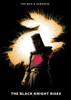 The Black Knight Rises T-shirt design.