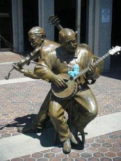 Asheville, NC - statues in front of the former Civic Center, now known as the US Cellular Center