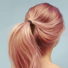 Double-tap if you're head over heels for this peachy-pink ponytail by #AvedaArtist @ianmichaelblack. #AvedaColor #LoveYourColor