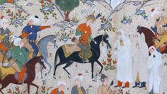 """Meeting of Bahram Gur with a Princess"""", Folio from a Shahnama (Book of Kings)…"""
