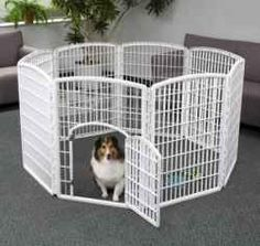 A dog play pen is an invaluable resource to have for those times when you can't watch over your dog or puppy every minute.    There are many styles...