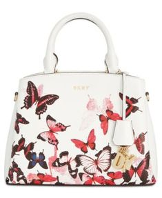 Dkny Paige Small Satchel, Created for Macy's - White Butterfly Bags, Monarch Butterfly, Butterfly Print, Dkny Handbags, Handbags Online, Handbag Accessories, Jewelry Accessories, Purses For Sale, Beautiful Butterflies