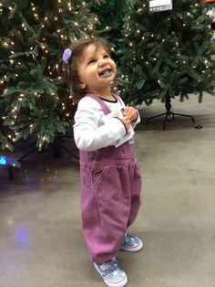 Toddler style: Vintage Osh Kosh striped overalls, Vans shoes
