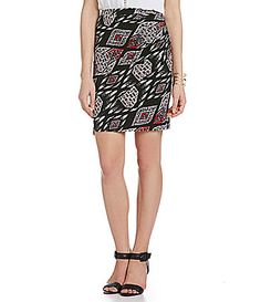 Vince Camuto Marakesh Tapestry Faux Wrap Skirt #Dillards