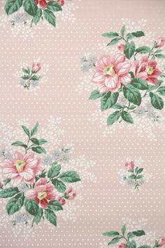 Vintage Wallpaper pink floral