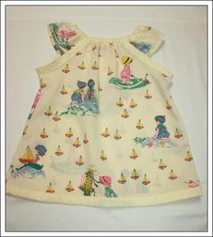 Vintage Holly Hobby Seaside Fabric Dress