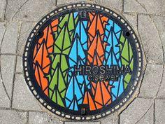 Hiroshima, Hiroshima pref manhole cover (広島県広島市のマンホール) | by MRSY