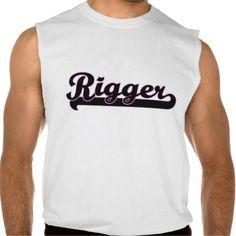 Rigger Classic Job Design Sleeveless T-shirt Tank Tops