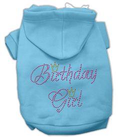 Basic Dog Hoodie (Rhinestone) - Birthday Girl