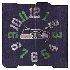 Seattle Seahawks Vintage Square Clock | Xtreme Sports
