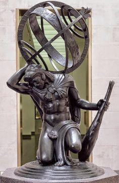 sanschaud:  Hercules upholding the heavens. Paul Manship, 1918.