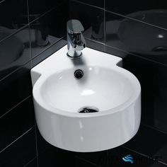 Small Marble Sink : ... with Towel Rail Bathroom Pinterest Corner Sink, Sinks and Towels