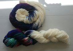 """Dye Candy - Luxury hand dyed yarn """"Dark Matter"""" - another dyer I have a lot from but can't help but want more."""